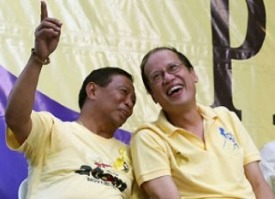 President BS Aquino and possible future president Jejomar Binay