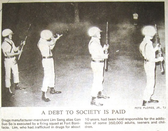 Lim Seng's execution in 1972