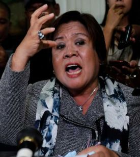 Finally getting her man: DOJ Secretary Leila De Lima