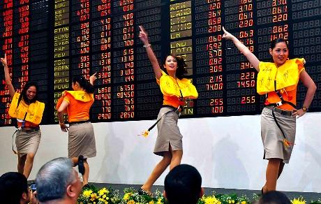 Cebu Pacific flight attendants in happier days