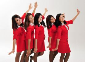 Malaysia's friendly AirAsia flight attendants
