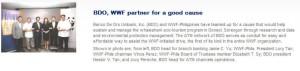 bdo partners with wwf