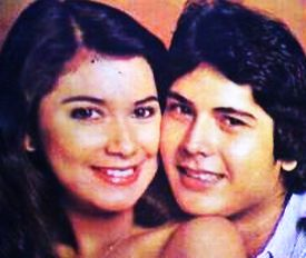 The late Alfie Anido with starlet Dina Bonnevie