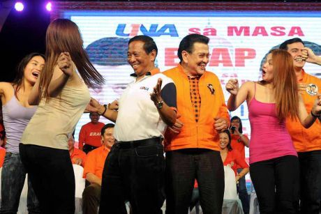 Dance dance pag may time: Binay with Manila Mayor Erap Estrada