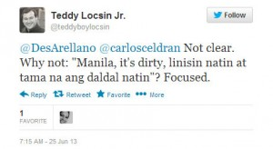 Teddy Boy Locsin scolds Carlos Celdran