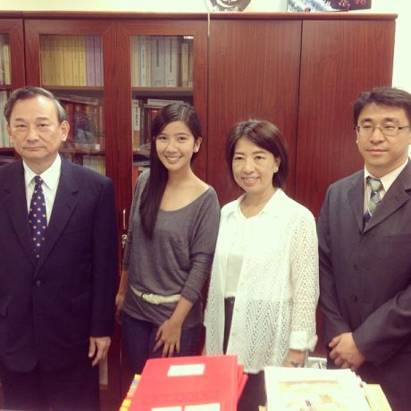 Michelle posing with officials from Taiwan's Ministry of Justice