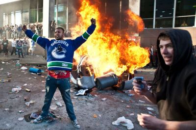 The rioters showed more fight than their team in Game 7