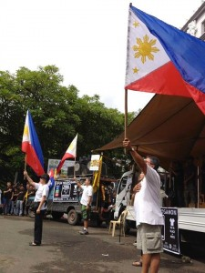 The protests were nationwide August 26 2013. Picture from someone on the ground in Bacolod.