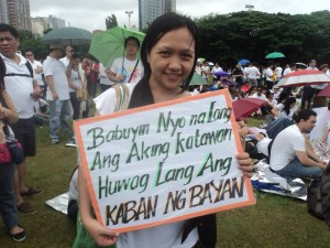 A sample of the sentiment in Luneta.