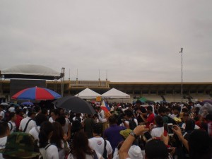 People braved the gloomy weather and gave up their holiday to voice out against the hypocrisy.