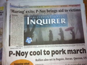 Noynoy Aquino Cool to Pork March Dumber than a box of hammers dumb