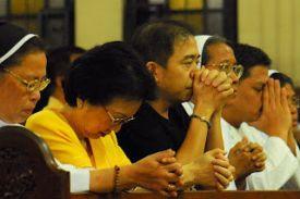 Prayer politics: Cory with Jun Lozada in the mid 00's