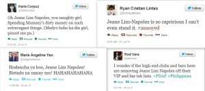 Tweets on Jean Lim Napoles, all soaked and dripping with contempt.