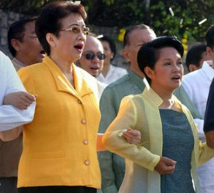 Cory Aquino was instrumental to Gloria Arroyo's rise to power.