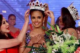 Megan Young being crowned locally before her shot at the Miss World title (photo courtesy of Inquirer)