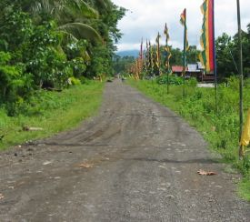 A typical road in the Philippines presumably funded by pork (net of 'commissions')