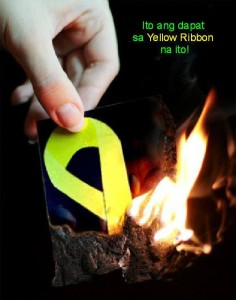 If you respect the whole country, this is where the yellow ribbon belongs.