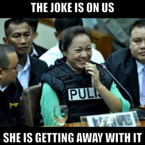 Napoles Smile Meme getting away with it