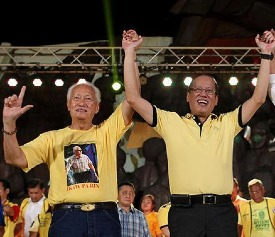 Former Manila Mayor Alfredo Lim with President BS Aquino in happier times