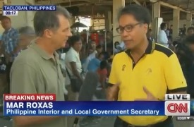 Character exposed: CNN's Andrew Stevens gets to the bottom of the situation in Tacloban