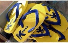 Giving Havaianas a run for the money: Korina Sanchez slippers in the preferred shade of yellow