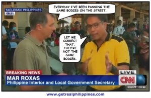 Mar Roxas stammered through a 2013 interview with CNN's Andrew Stevens at Haiyan's Ground Zero.