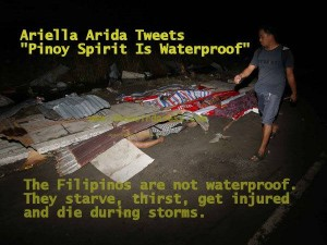 A picture message that was circulated shortly after Haiyan hit