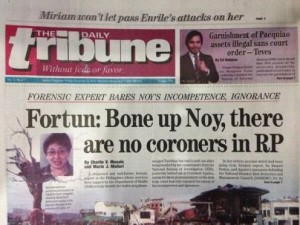 Dr.Fortun felt burned by the government when she tried to help.