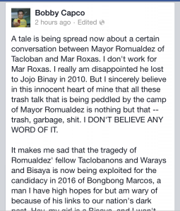 Don't believe a Mar Roxas adversary? So Mar himself has to be believed?