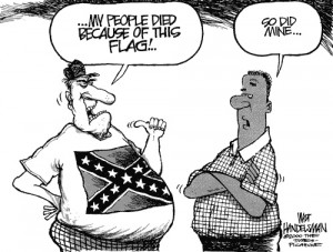 The Confederate flag is a highly polarizing symbol.