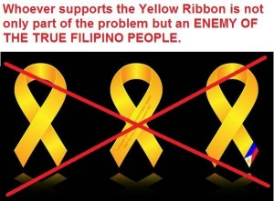 The yellow ribbon does not symbolize you. It symbolizes the interest of the family in power.