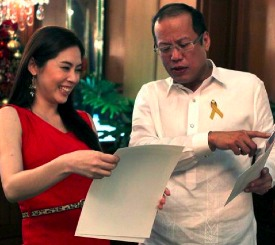 Taking care of business: PNoy and Grace Lee in 2012