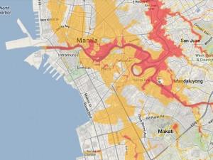 project noah 100 year flood map manila bay