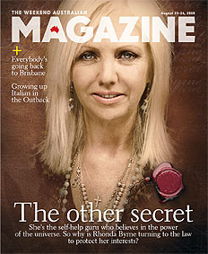 The Secret Author Rhonda Byrne as featured on The Australian magazine