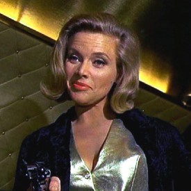 Honor Blackman as James Bond's nemesis Pussy Galore