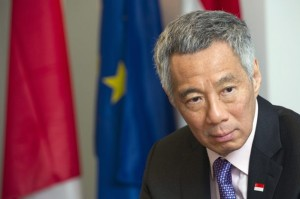 Singapore PM Lee put in a word to help out Filipinos (photo courtesy of EPA/Nicolas Bouvy)