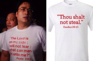 bong revilla scripture t shirt