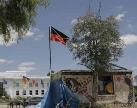 In for the long haul: Aboriginal Embassy in front of Parliament House, Canberra