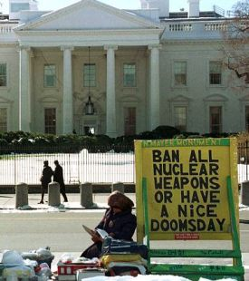 Four-season activism: Connie Picciotto's White House 'peace tent'