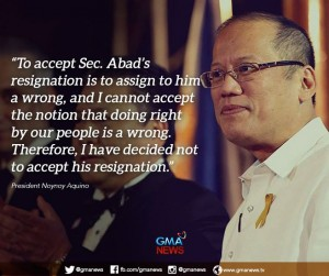 Noynoy and Abad created this mess called DAP that always  was unconstitutional. They will admit no fault or responsibility.