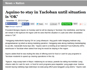 Aquino to stay in Tacloban until situation is 'OK' - News - GMA News Online 2014-07-30 11-29-09