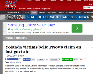 Don't you love how people whose lives were devastated in November are used as props during the SONA?