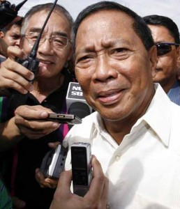 Vice President Jejomar Binay: doesn't mind taking a beating if it means winning in 2016