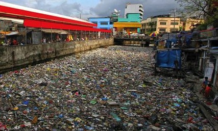Atrophied capacity for disgust:A Manila storm canal clogged with garbage