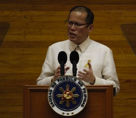 President BS Aquino: He thinks his critics are 'against' him.