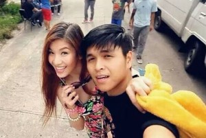 Jam Sebastian and Michelle Liggayu a.k.a. 'Jamich' taking one of their many selfies