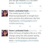 Popular social media 'activist' Noemi Dado regularly pitches Samsung products in between her social awareness tweets.