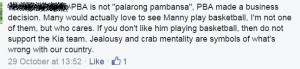 So people think those who question Manny's self indulgence and the enablers are crab.