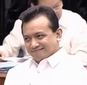 All smiles: mutineer-turned-'senator'Antonio Trillanes IV