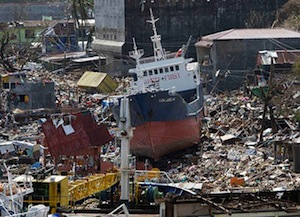 The devastation left by Typhoon Haiyan was enormous.